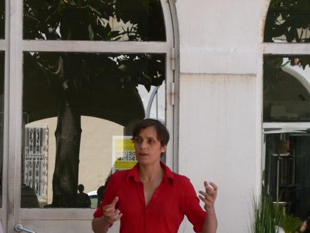 Présentation du work in progress de Marie Reinert aux salariés de Marfret