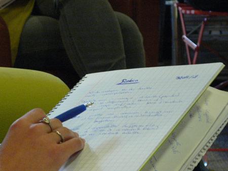 Phase de réflexion, autour du projet de Robin Decourcy chez Bleu Ciel & Cie