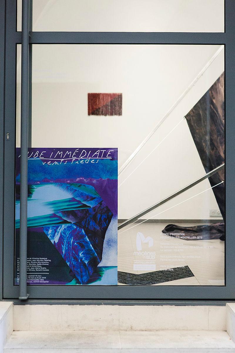 2. Aube immédiate, vents tièdes, vue d'exposition, Mécènes du Sud Montpellier-Sète, 2019, image: Elise Ortiou Campion