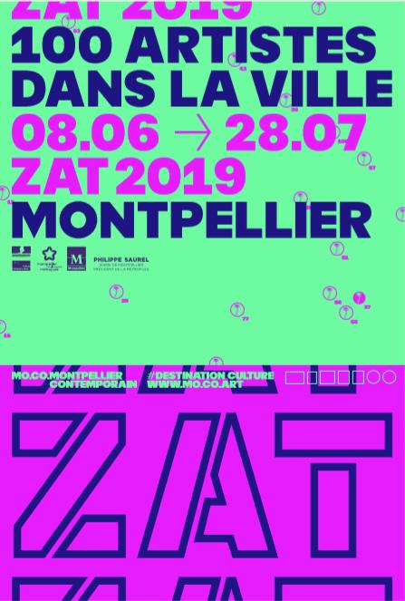 Affiche, ZAT 2019 - 100 artistes dans la ville