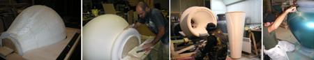 Fabrication des pièces sculpturales