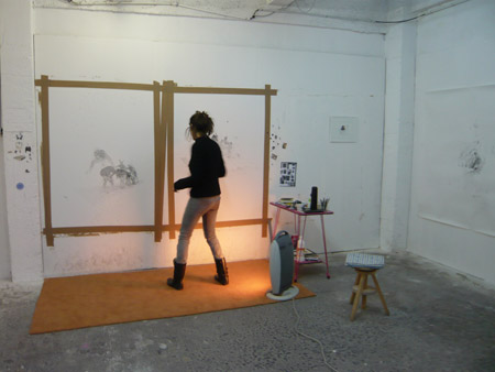 Visite de l'atelier de Karine Rougier