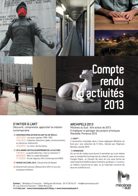 Compte rendu d'activités 2013