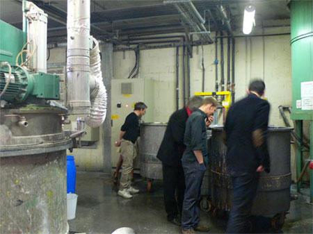 Visite de l'usine Pébéo avec les lauréats 2007