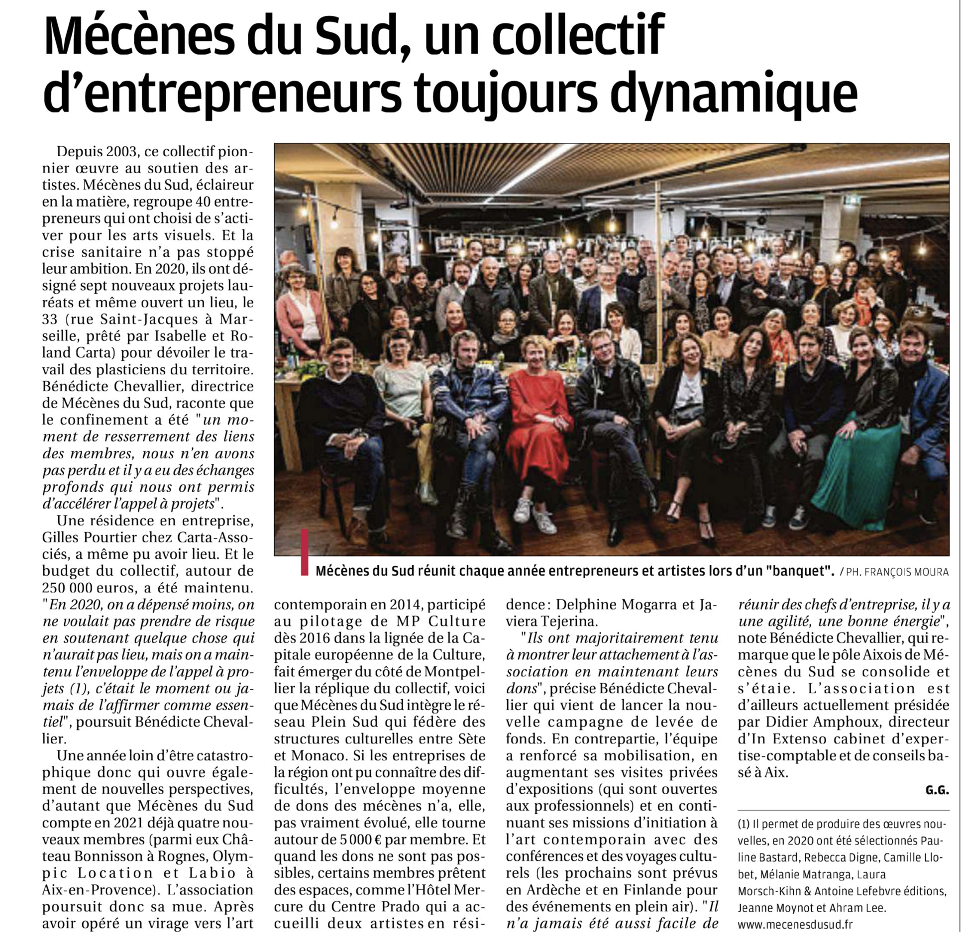 Article de La Provence_22.02.2021